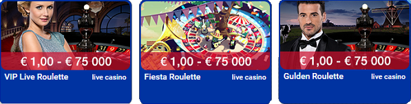 Polder casino live roulette